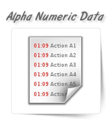 Alpha Numeric Data Entry