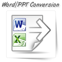 Word/Excel/PPT Conversion