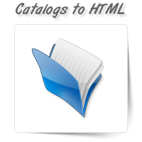 Catalogs to HTML/Web-Page