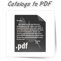 Catalogs to PDF Conversion